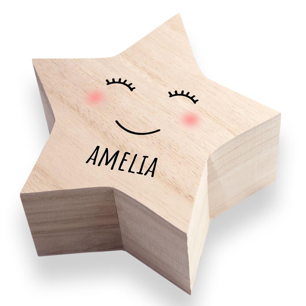Personalised Keepsake Box – Smiling Star