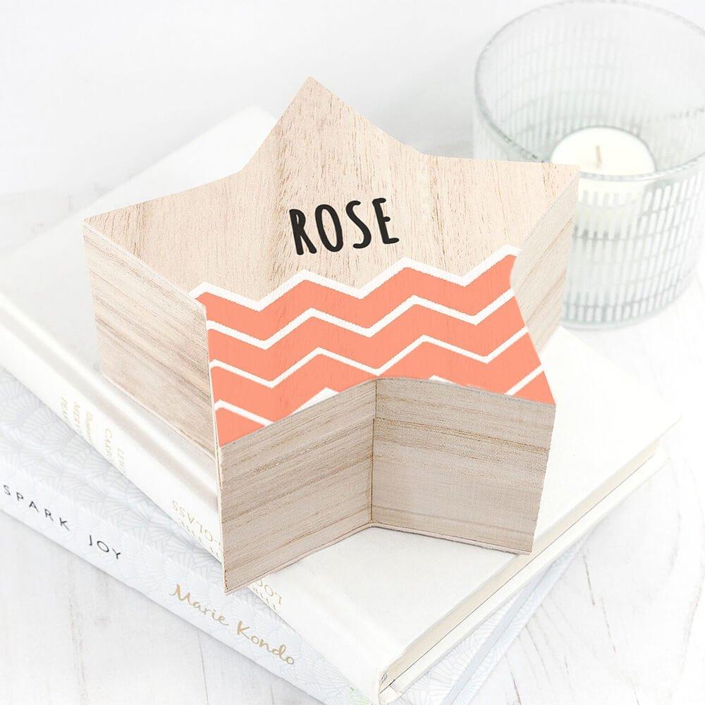 Personalised Keepsake Box – Zig Zag Star