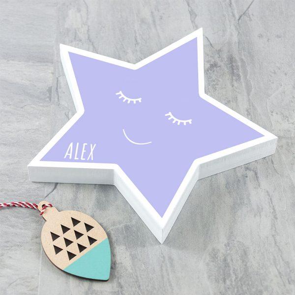 Personalised Keepsake Box – Smiling Star (Colour)