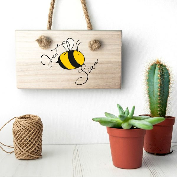 Personalised Wooden Sign – Just-Bee-You