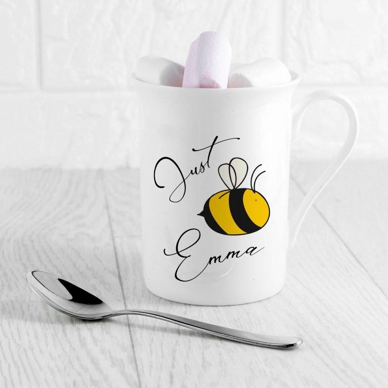 Personalised Bee You Bone China Mug