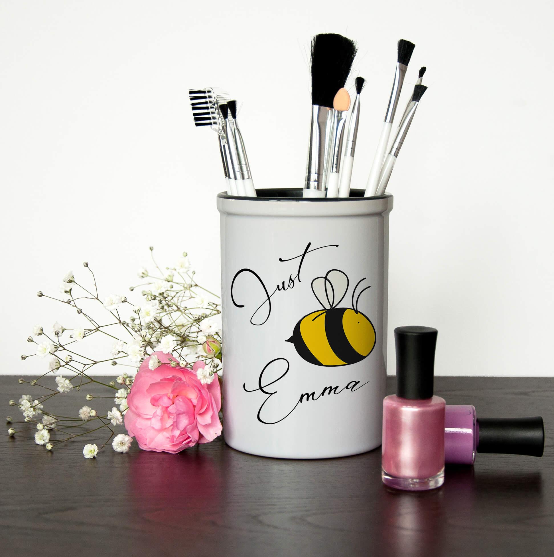 Personalised Make Up Brush Holder – Bee You