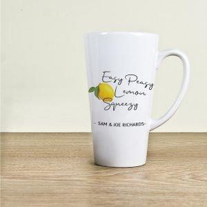 Personalised Easy Peasy Lemon Squeezy Latte Mug