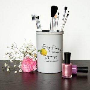 Personalised Make Up Brush Holder – Easy Peasy Lemon Squeezy