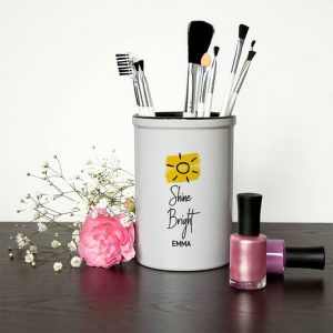Personalised Make Up Brush Holder – Shine Bright