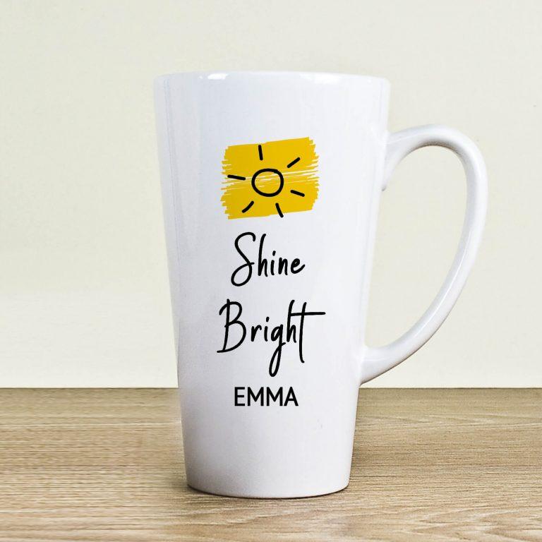 Personalised Shine Bright Latte Mug