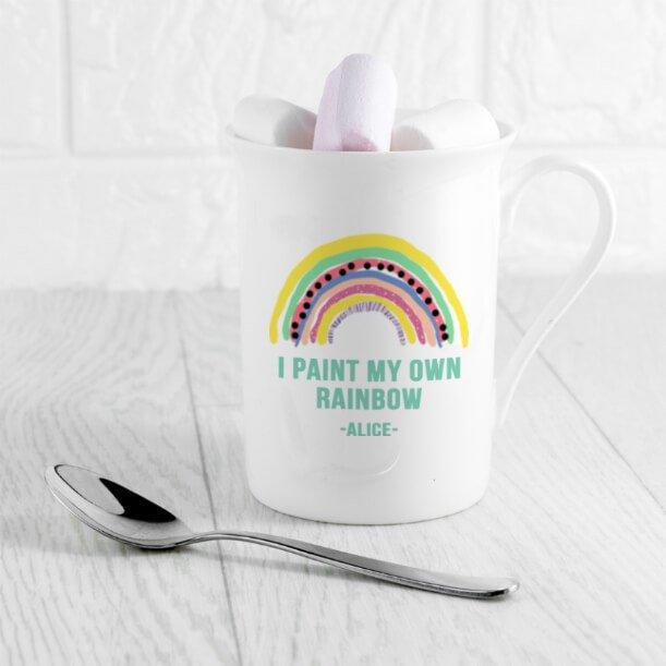 Personalised My Own Rainbow Bone China Mug
