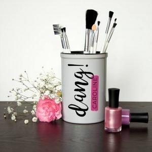 Personalised Make Up Brush Holder – Dang