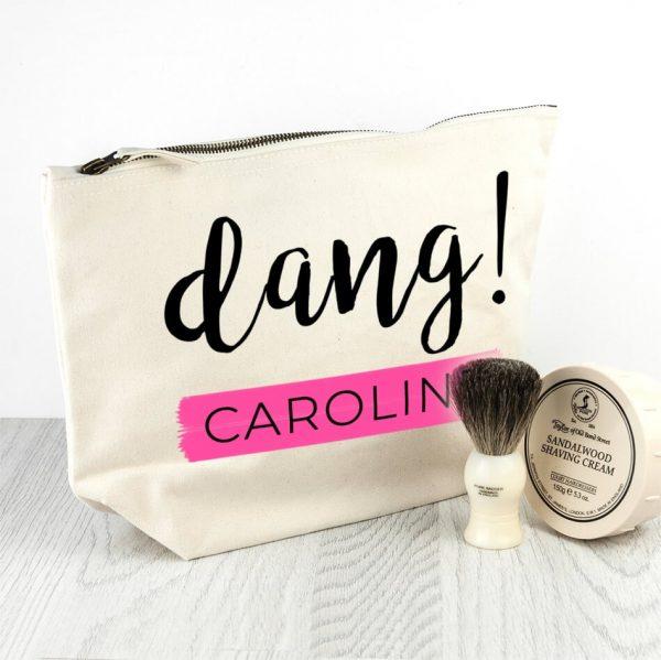 Personalised Wash Bag – Dang!