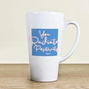 Personalised Radiate Positivity Latte Mug