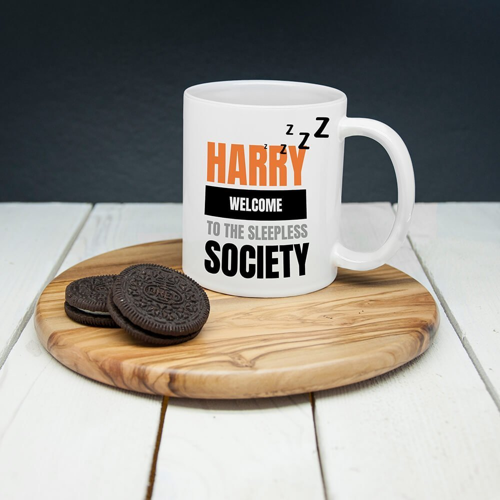 Personalised Personalised Sleepless Society Mug
