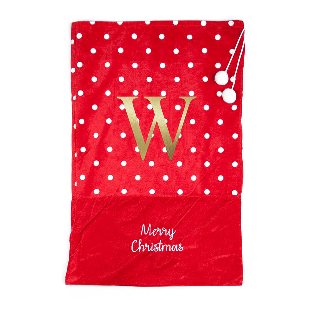 Personalised Polka Dot Christmas Santa Sack