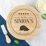 Personalised Cheese Board Set – Monogram Couple