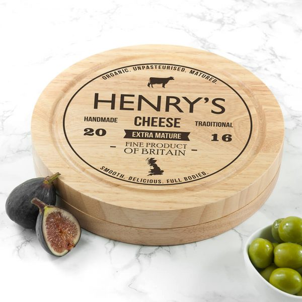 Personalised Cheese Board Set – Traditional