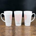 Personalised I Love You In Every Language Latte Mug