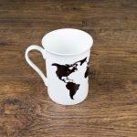 Personalised You're My World Map Bone China Mug