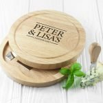 Personalised Cheese Board Set – Couple