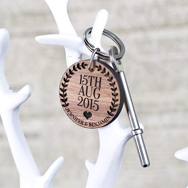 Personalised Wooden Key Ring – Special Date