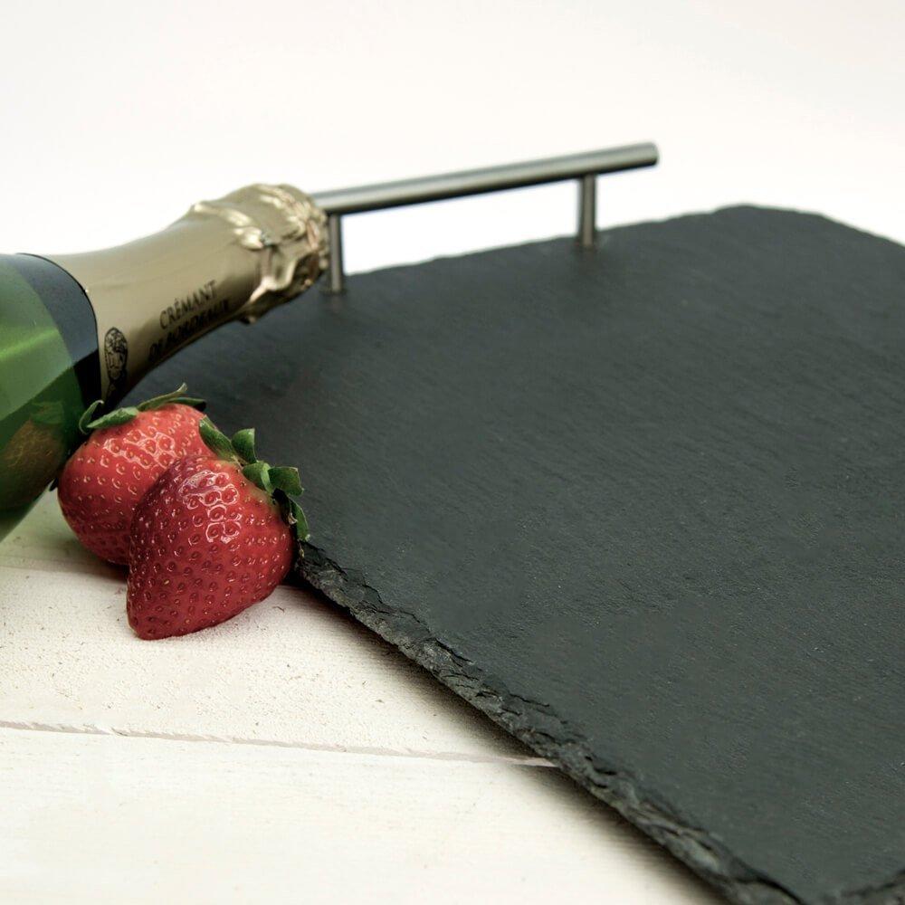 Personalised Breakfast in Bed Slate Tray – Initial