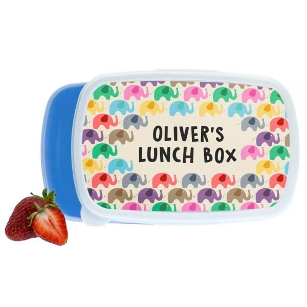 Personalised Lunch Box – Elephant