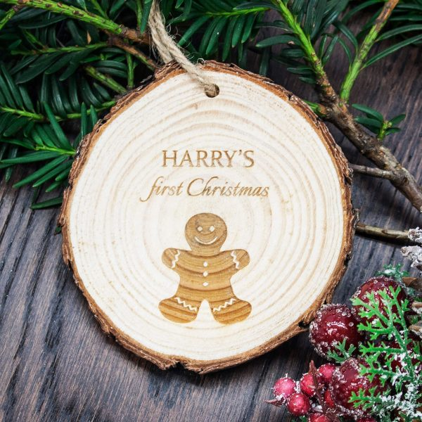 Personalised My First Christmas Gingerbread Man Hanging Decoration
