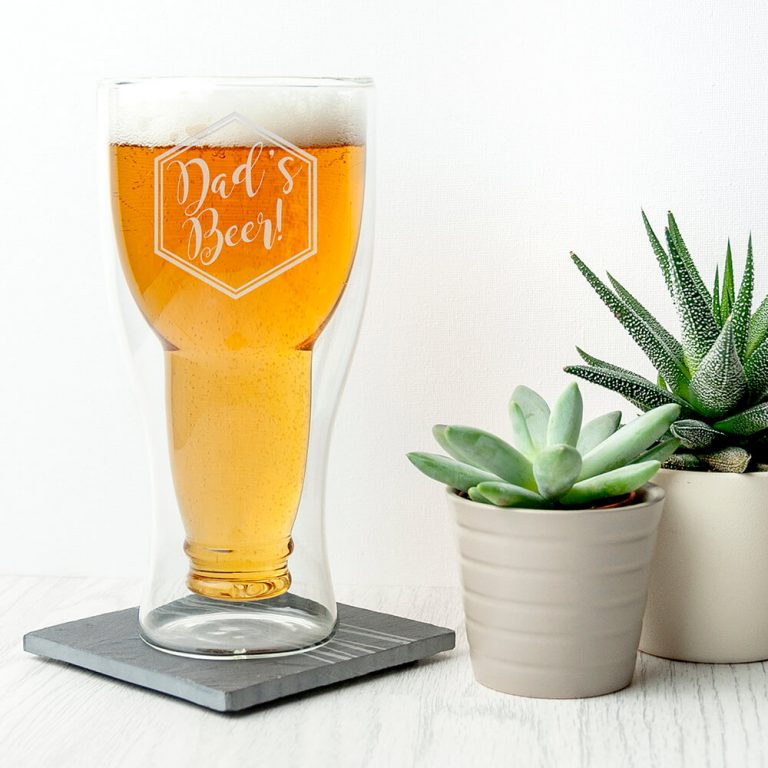 Personalised Beer Glass – Statement