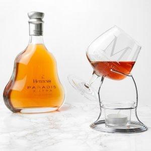 Personalised Brandy Warmer Set – Initial & Message