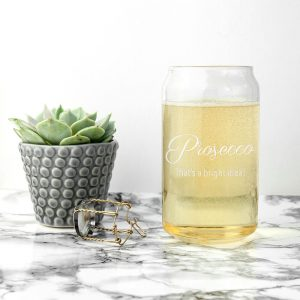 Personalised Glass Can – Bright Idea