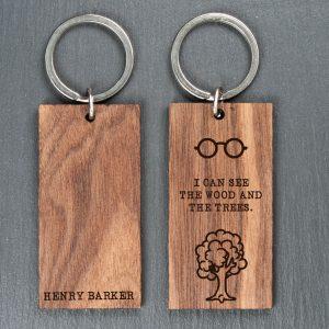 Personalised Wooden Key Ring – Wood & Trees