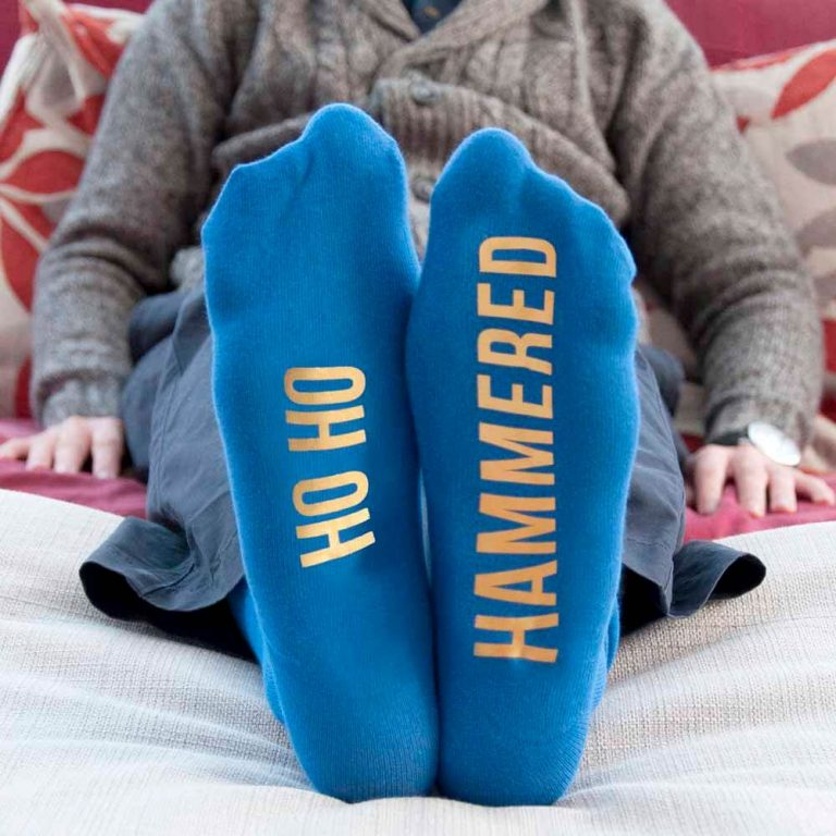 Personalised Socks (Blue & Yellow) – Christmas Feel