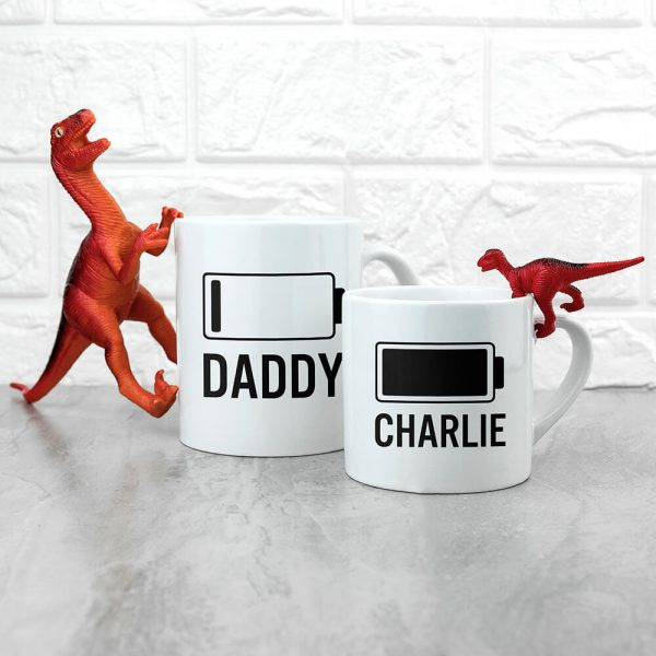 Personalised Daddy & Me Low Battery Mugs