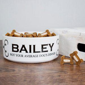 Personalised Dog Bowl – Dog's Dinner