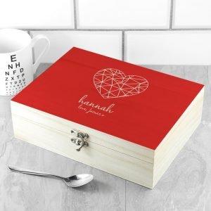 Personalised Tea Box – Heart