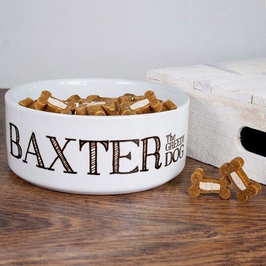Personalised Dog Bowl – Greedy Dog