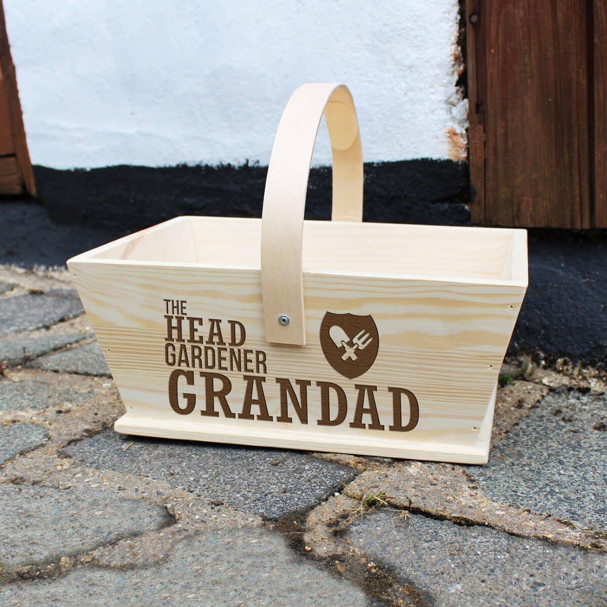 Personalised Gardeners Trug – Head Gardener
