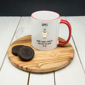 """Personalised Words Cannot Espresso How Much You Mean To Me"""" Mug"""""""