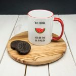 """Personalised You Are One In A Melon"""" Mug"""""""