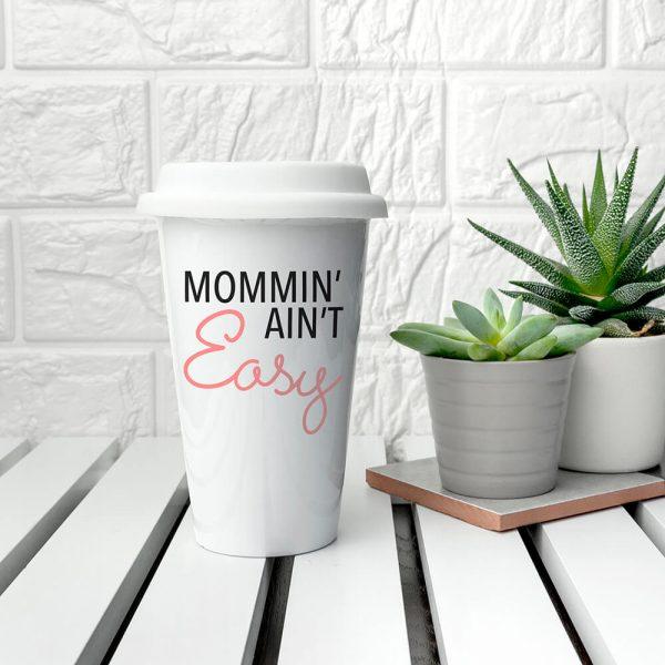 Personalised It Ain't Easy Ceramic Travel Mug