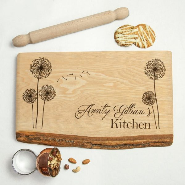 Personalised Rustic Wood Carving Board – Baker's Kitchen