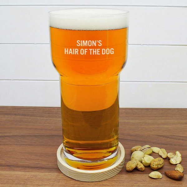 Personalised Beer Glass & Coaster (LSA) – Your Message