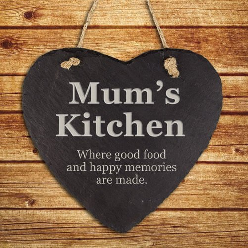 Personalised Hanging Slate Sign – Kitchen