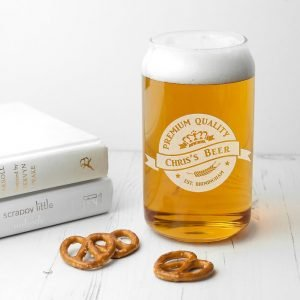 Personalised Glass Can – Premium Quality