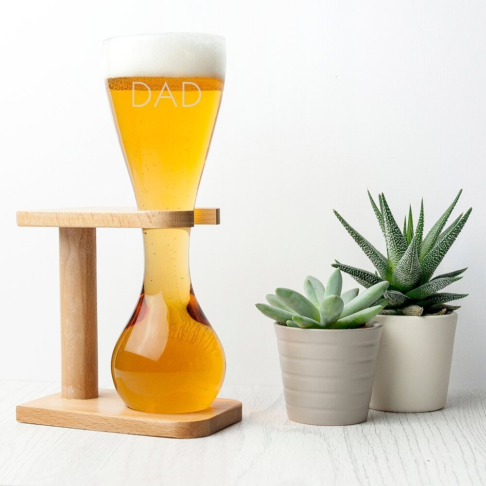 Personalised Quarter Yard Ale Glass – Name