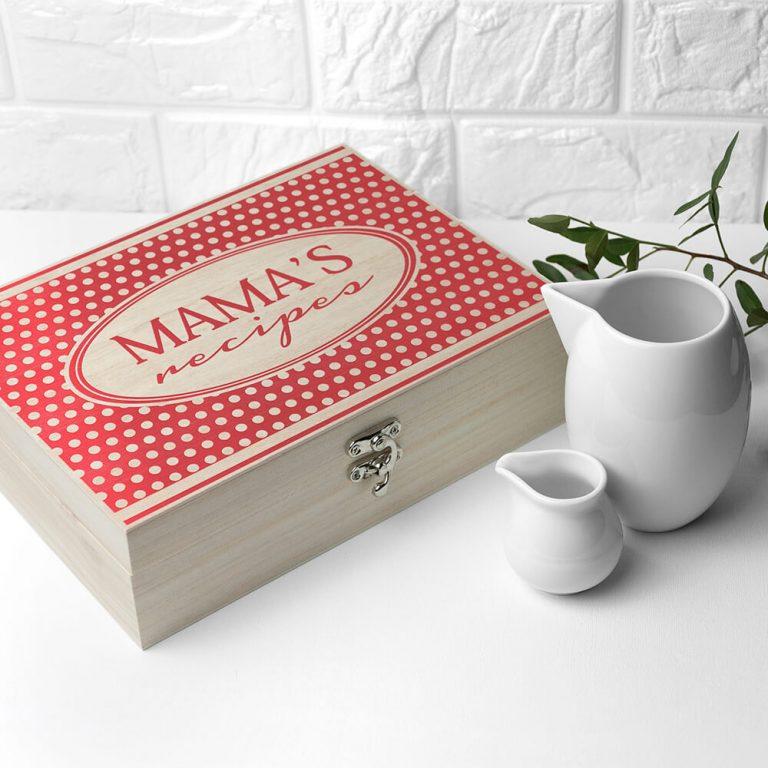 Personalised Recipe Box – Polka Dot