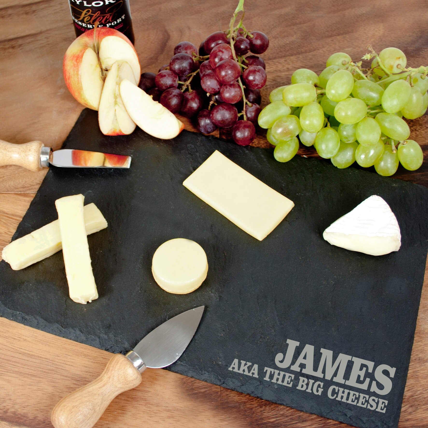 Personalised Slate Cheese Board – Your Message (Rectangle)