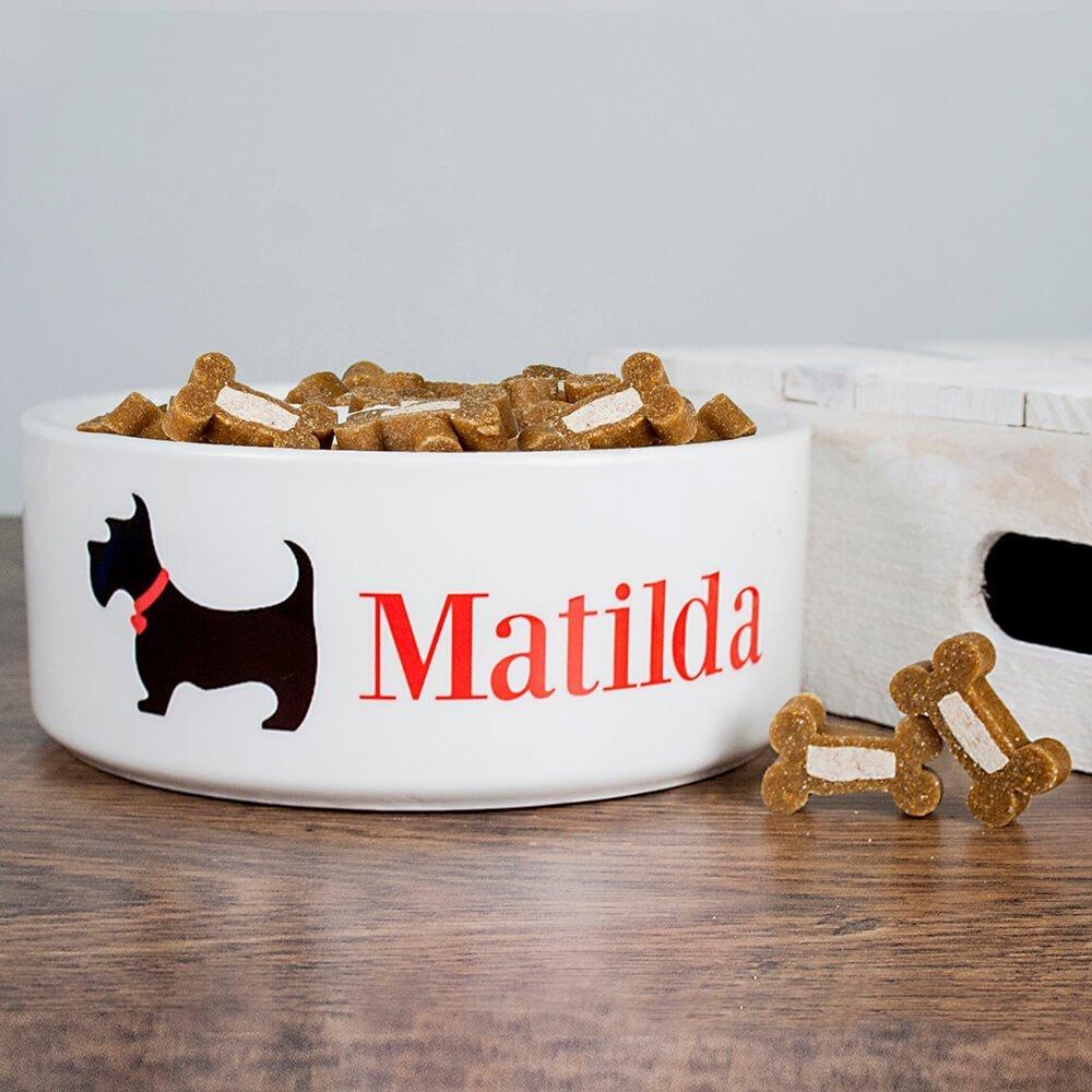 Personalised Dog Bowl – Scottie Dog