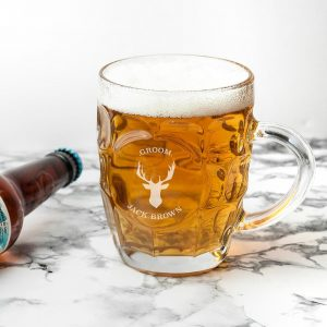 Personalised Beer Glass (Dimple) – Stag