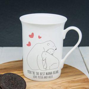Personalised The Best Mama Bear Bone China Mug