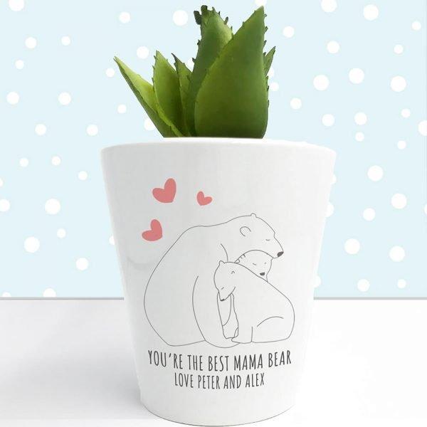 Personalised Plant Pot – Mama Bear