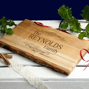 Personalised Rustic Wood Carving Board – Family